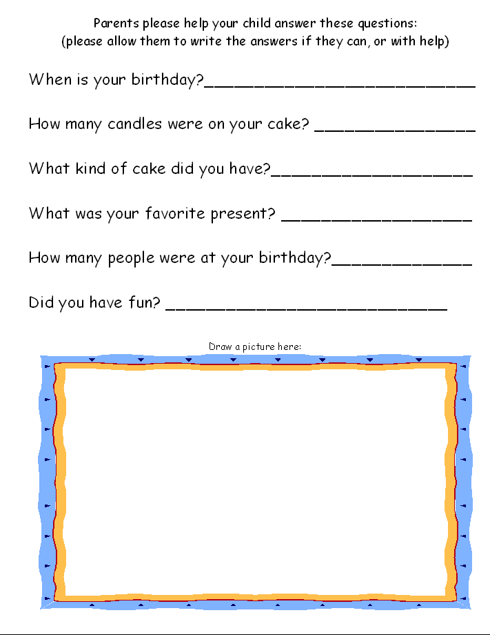 you may want to print page 2 on the back of page 1 to save from having to print a page for each student less pages per book - Preschool Pages To Print