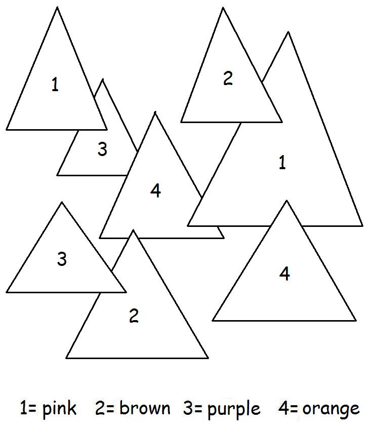 COLOR BY NUMBER TRIANGLES