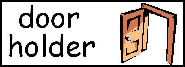 door holder clipart free - photo #14