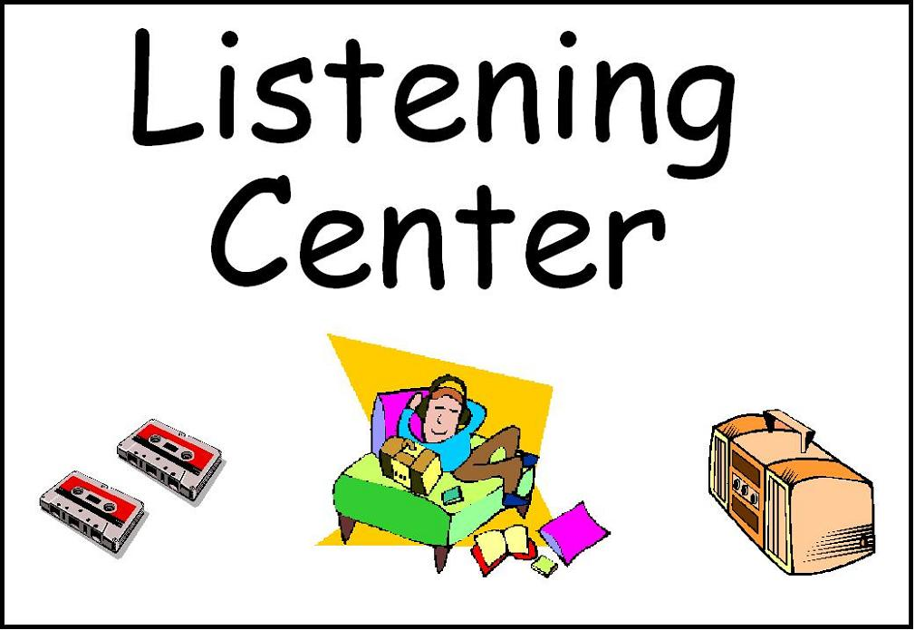 classroom center signs Writing Center Clip Art listening centre clipart