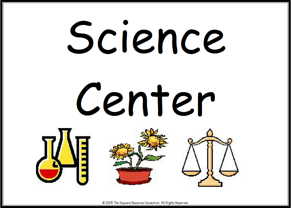 Science Tags: Classroom Center Signs