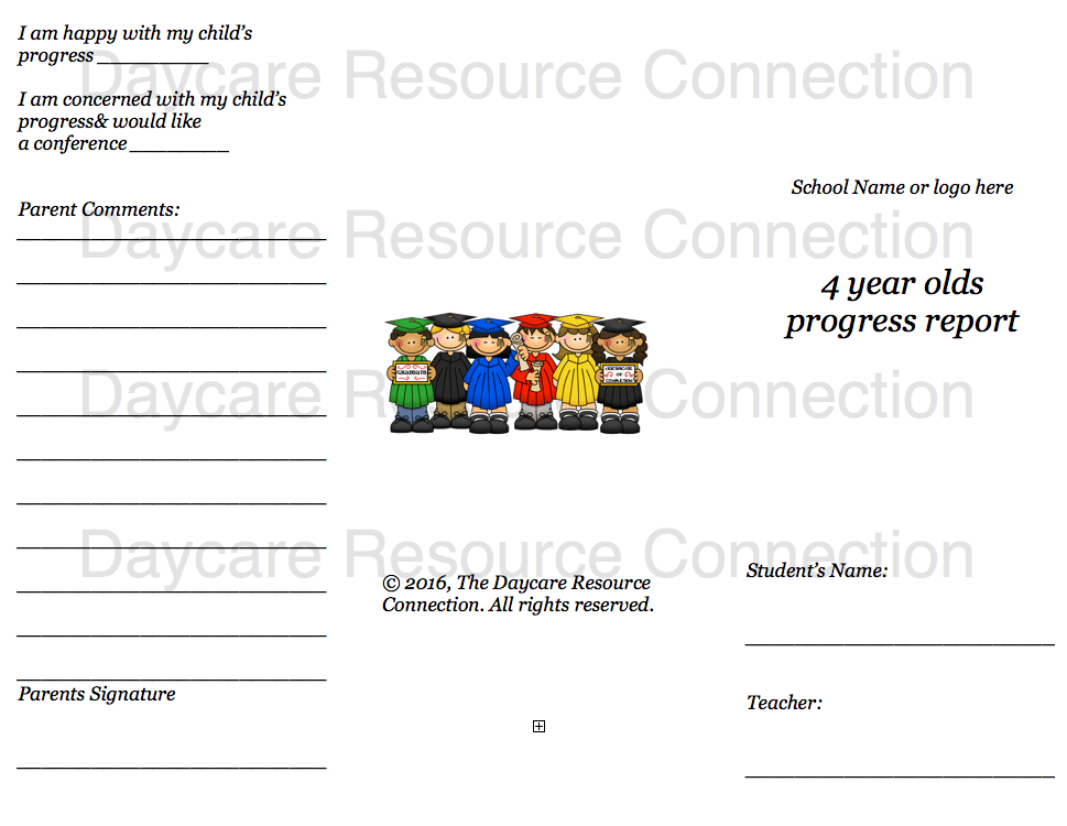 Preschool printable daily reports 5 year old back side altavistaventures Gallery