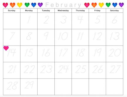 99 new tracing calendars free sample calendars january 2016 february ...